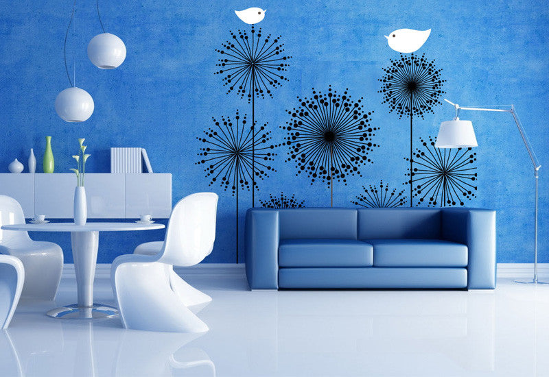 Birds and Dandelions Wall Decal