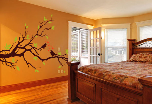 Birds on Branch in Love Wall Decal