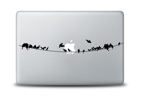 Birds on a Wire Decal for Laptops