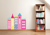 Row of Urban Buildings Wall Decal