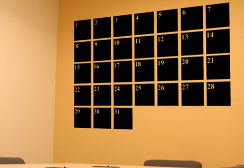 Basic Calendar Wall Decal