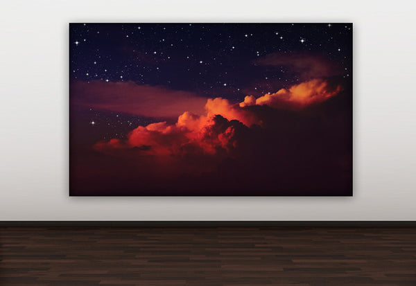 Colorful Night Sky Canvas