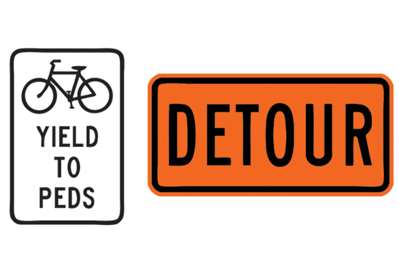 Detour & Yield Signs Wall Decal