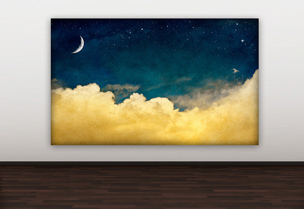 Magical Night Sky Canvas