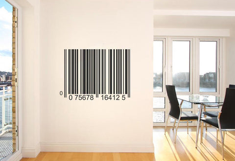 Barcode Wall Decal