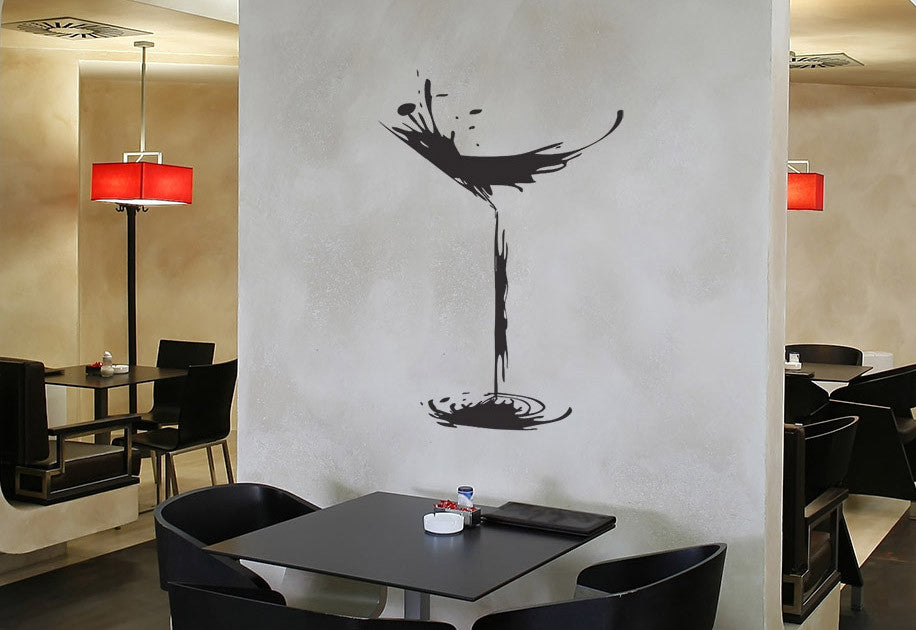 Abstract Martini Glass Wall Decal
