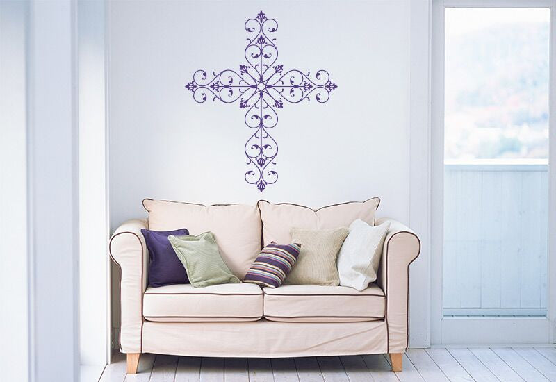 Fancy Cross Wall Decal