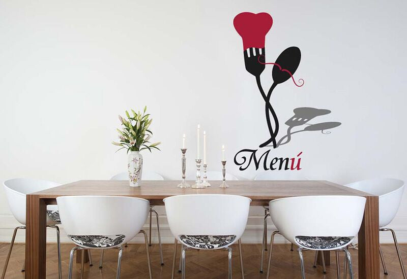 Fork And Spoon Wall Decal