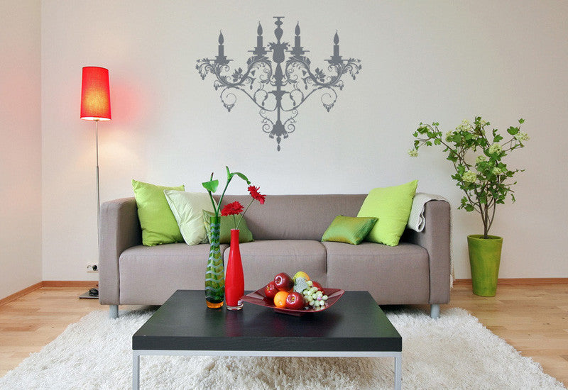 Chandelier 2 wall decal easy decals chandelier 2 wall decal mozeypictures Gallery