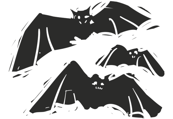 Bats Set of 3 Wall Decal