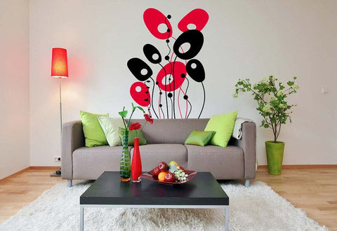 Ovals and Squiggles Wall Decal