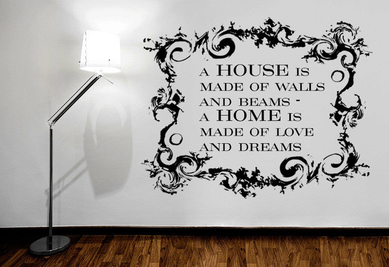 A Home Is Made Of Quote Wall Decal