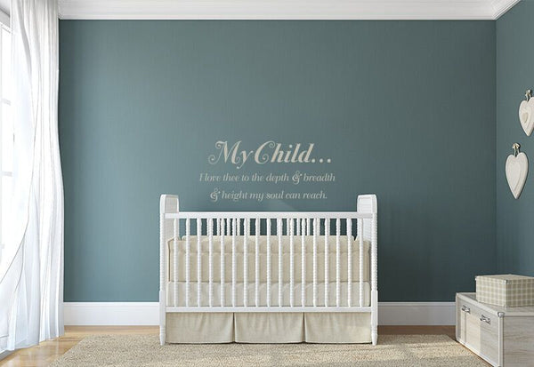 My Child Quote Wall Decal