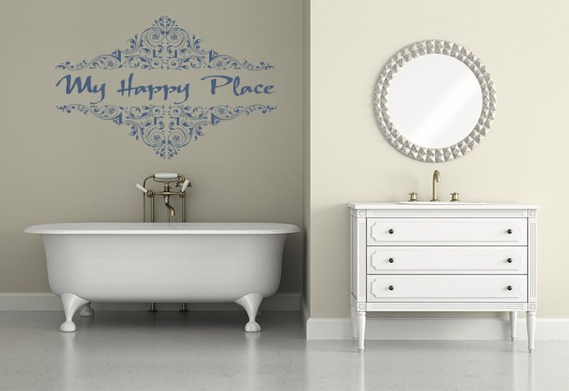 My Happy Place Large Wall Decal