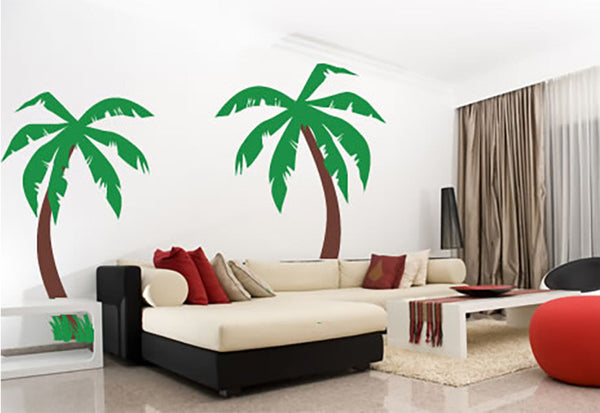 Palm Trees with Grass Wall Decal