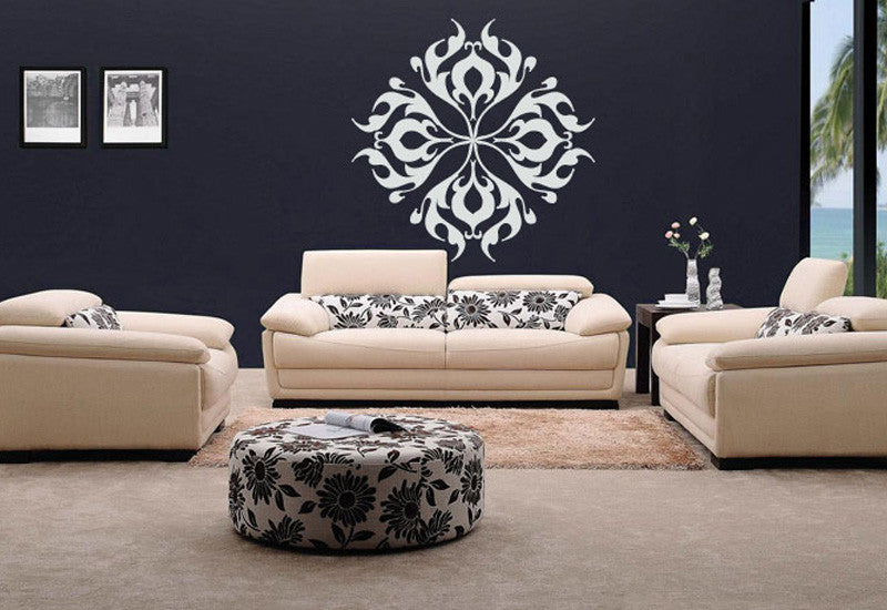 Round Filigree Decal Wall