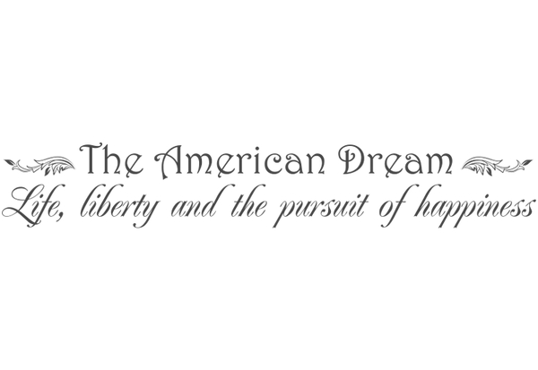 The American Dream Wall Decal