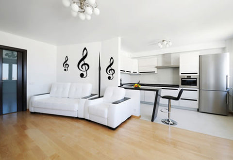 Treble Clef Music Notes Wall Decal