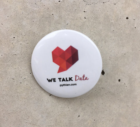 We Talk Data Button - 10 pack