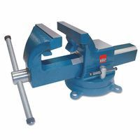bessey-bv-df5sb-industrial-bench-vise,-5-in-jaw,-3-in-throat,-swivel-base