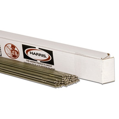 "Harris 015FC600POP 1/8"" x 36"" 15-Low Fuming Bronze (Flux-Coated) TIG Rod (1lb Tube)"