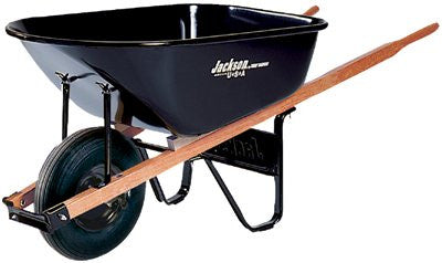 Ames True Temper J6 6 Cubic Feet Steel Tray Contractor Wheelbarrow (1 EA)