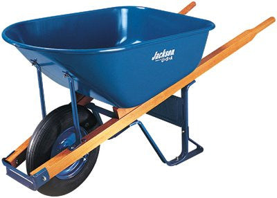 Ames True Temper M6FFBB Wheelbarrow 6 Cubic Feet Steel Flat Free Wheel (1 EA)
