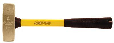 Ampco Safety Tools H-10FG 1.75 LB. BRICKLAYERS HAMMER W/FBG. HANDLE 1 EA