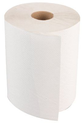 Boardwalk BWK 6254 Non-Perforated Hardwound Roll Towels, White, 800Ft Roll (6 Rolls/Case)