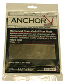 Anchor FS-3H-9 Hardened Glass Gold Filter Plate
