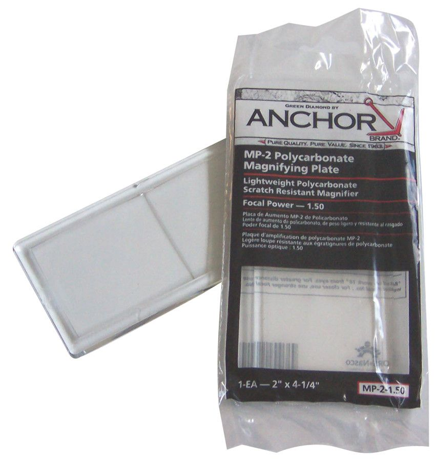 ANCHOR MP-2 Polycarbonate Magnifying Plate 1.50
