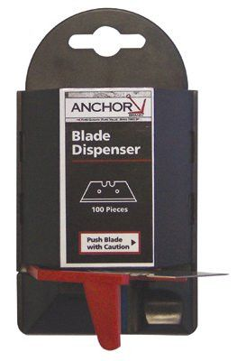 anchor-brand-ab-11-100-blade-dispenser-containers,-5.5-in,-steel,-100-per-dispenser