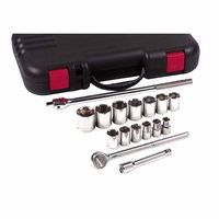 Anchor Brand 07-866 17 Piece Standard Socket Sets, 1/2 in, 12 Point (1 Set)