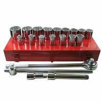 Anchor Brand 07-880 21 Piece Socket Sets, 3/4 in, 12 Point (1 Set)
