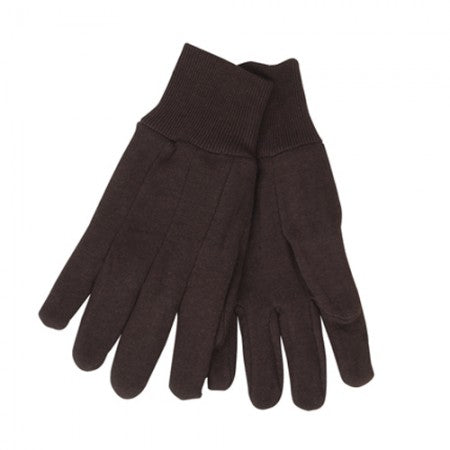 Revco 1109 9 oz. Brown Cotton Jersey Industrial Gloves (12 Pairs)