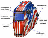 Metal Man APA8735SGC Patriotic BIG Window Variable Shade Auto Darkening Welding Helmet