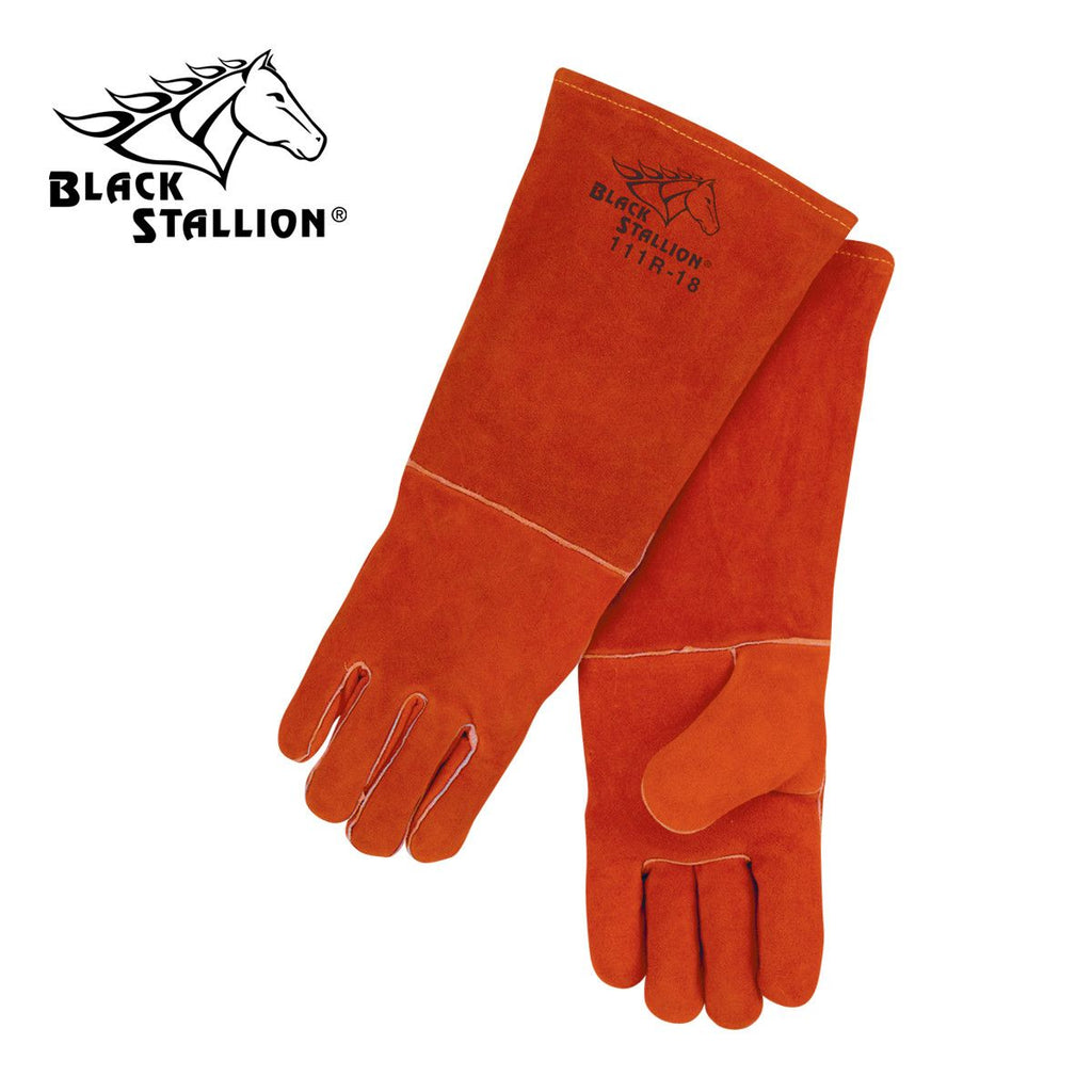 "Revco 111R-18 Black Stallion® Cowhide 18"" Stick Welding Gloves"
