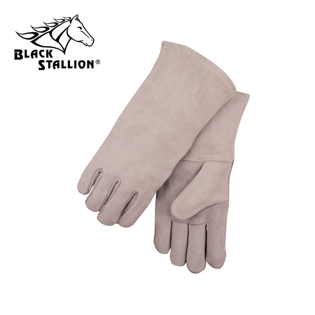 Revco 111S Large Gray Shoulder Split Cowhide Basic Welding Gloves (1 Pair)