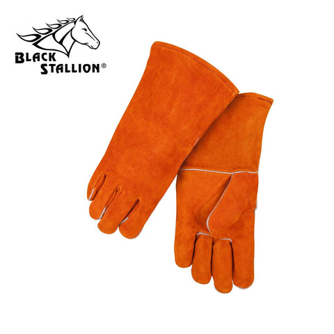 Revco 112 Orange Economy Split Cowhide Stick Gloves (1 Pair)