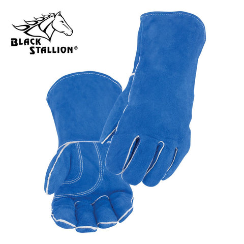 Revco 113 Blue Split Cowhide Stick Glove with Palm Guard (1 Pair)