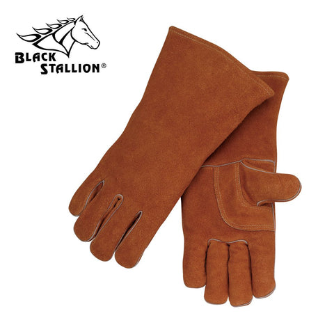 Revco 115 Brown Split Cowhide Stick Glove with Palm Guard (1 Pair)