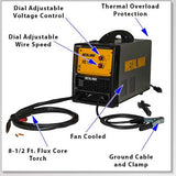 Metal Man FC130i 120V Inverter Flux Core Welder