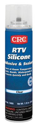 CRC 14055 RTV Silicone Adhesive/Sealants, 8 oz Pressurized Tube, Clear (12 Cans)