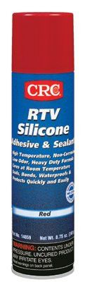 CRC 14059 RTV Silicone Adhesive/Sealants, 8 oz Pressurized Tube, Red (12 Cans)