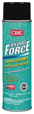 CRC 14412 HydroForce Glass Cleaners Professional Strength, 18 oz Aerosol Can (12 Cans)