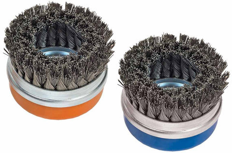"Walter 13G574 4"" x 5/8""-11"" Double-Row Knot-Twisted Cup Brush with Ring"