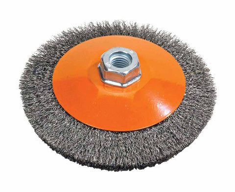 "Walter 13H454 4"" x .012"" x 5/8""-11"" Crimped Wire Saucer Cup Brush"