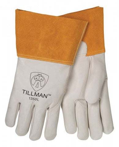 "Tillman 1350 4"" Cuff Heavy Duty Top Grain Cowhide MIG  Welding Gloves (1 Pair)"