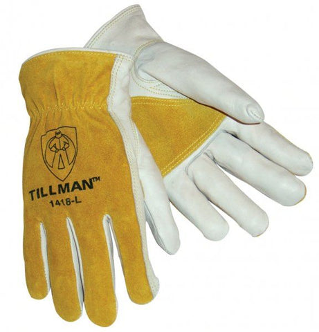 Tillman 1418 Reinforced Top Grain/Split Cowhide Drivers Gloves (1 Pair)