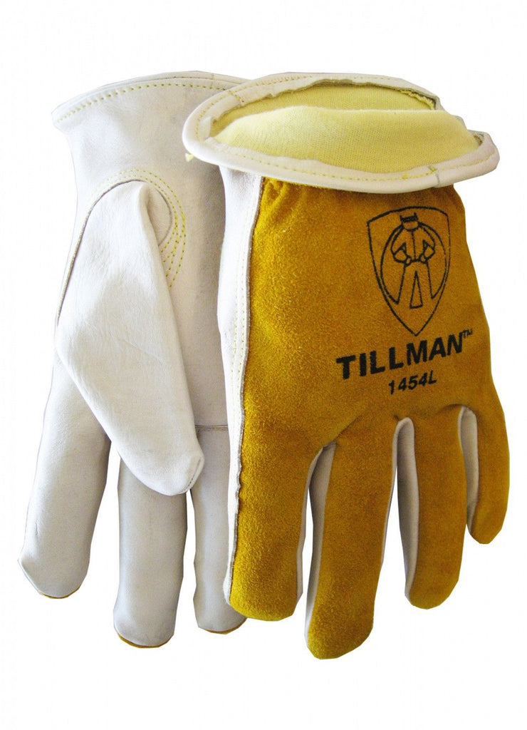 Tillman 1454 Kevlar Lined Top Grain/Split Cowhide Drivers Gloves (1 Pair)